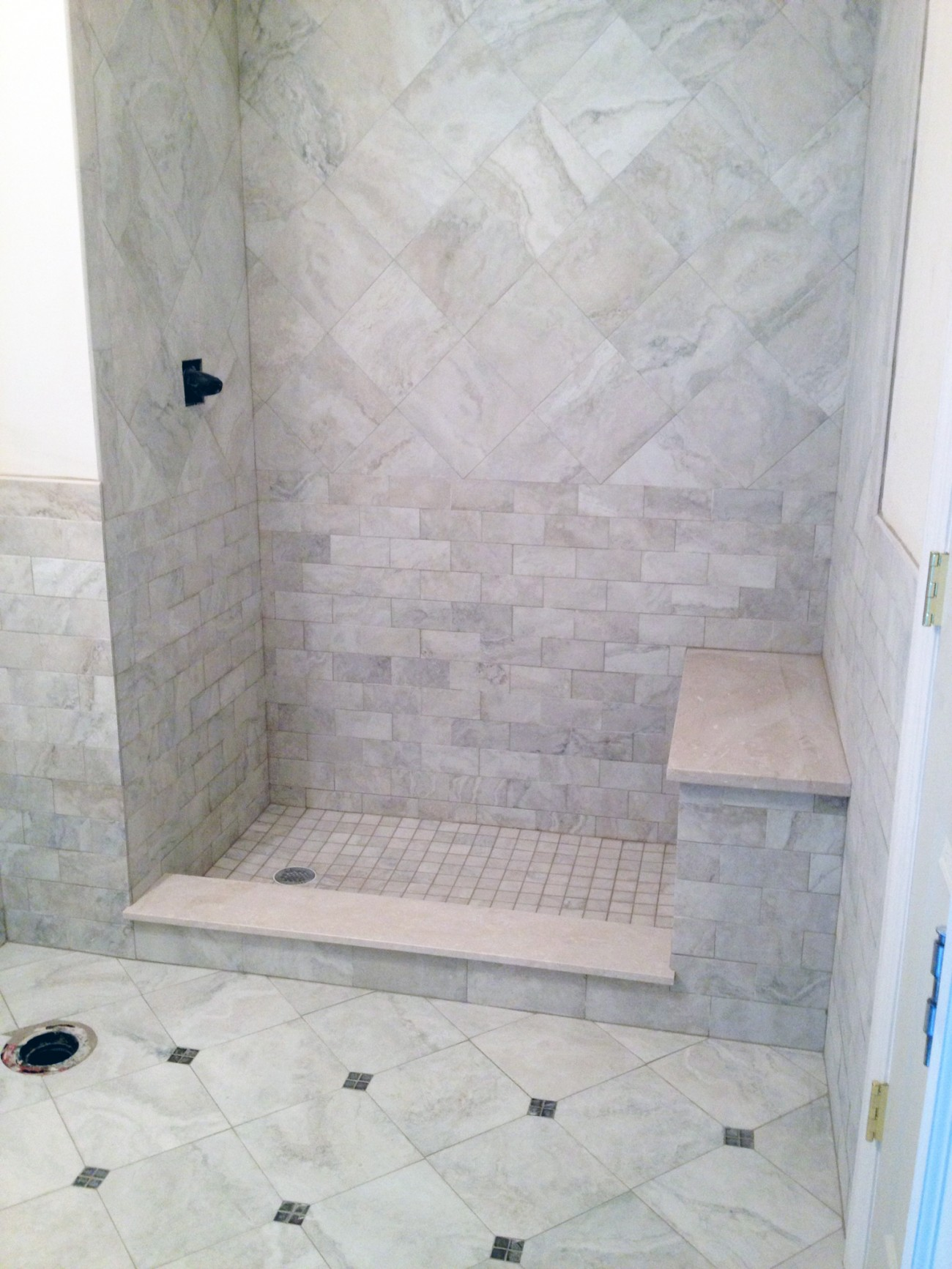 subway penny kunz remodel bathroom tile floor contractors pin
