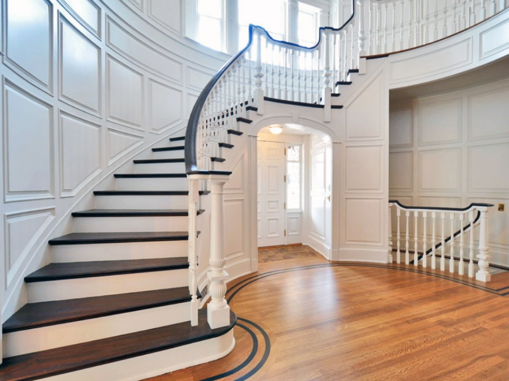 Flooring contractor custom stairs westchester new york for Hardwood floors on stairs